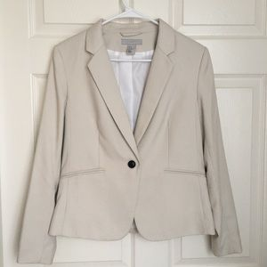 H&M beige one button blazer